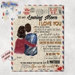 Personalized Mother's Day Gifts Custom Letter From Son To My Loving Mom Jigsaw Puzzle