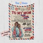 Personalized Mother's Day Gift Custom Blanket Letter From Daughter To My Mom
