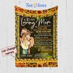 Personalized Mother's Day Gift Custom Blanket Sunflowers From Daughter To My Loving Mom