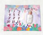 Personalized Baby Blanket Newborn Photo Floral Custom Baby Blanket 79