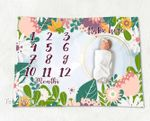 Personalized Baby Blanket Newborn Photo Floral Custom Baby Blanket 81