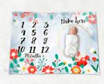 Personalized Baby Blanket Newborn Photo Floral Custom Baby Blanket 84