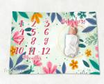Personalized Baby Blanket Newborn Photo Floral Custom Baby Blanket 91