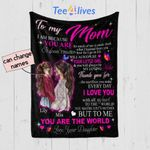 Personalized Mother's Day Gift Custom Blanket From Daughter To My Mom - Quilt Blanket