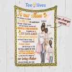 Personalized Mother's Day Gift Custom Blanket Sunflowers From Daughters To Our Mom