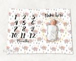 Personalized Baby Blanket Newborn Photo Floral Custom Baby Blanket 137