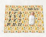 Personalized Baby Blanket Newborn Photo Floral Custom Baby Blanket 171