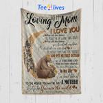 Custom Blanket Bear To My Loving Mom From Son - Mother's Day Gift - Quilt Blanket