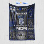 Custom Blanket Police Blanket - Mother's Day Gift - Quilt Blanket