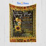 Custom Blanket Sunflower To My Loving Mom From Daughter - Mother's Day Gift - Quilt Blanket