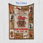 Custom Blanket Dachshund Mom Blanket - Gift For Mom - Quilt Blanket