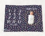 Personalized Baby Blanket Newborn Photo Floral Custom Baby Blanket 258