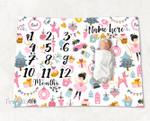 Personalized Baby Blanket Newborn Photo Floral Custom Baby Blanket 267
