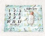 Personalized Baby Blanket Newborn Photo Floral Custom Baby Blanket 268