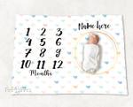 Personalized Baby Blanket Newborn Photo Floral Custom Baby Blanket 291