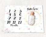 Personalized Baby Blanket Newborn Photo Floral Custom Baby Blanket 292
