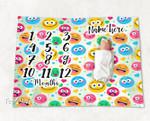 Personalized Baby Blanket Newborn Photo Floral Custom Baby Blanket 296
