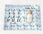 Personalized Baby Blanket Newborn Photo Floral Custom Baby Blanket 299