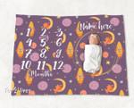 Personalized Baby Blanket Newborn Photo Floral Custom Baby Blanket 314