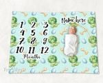 Personalized Baby Blanket Newborn Photo Floral Custom Baby Blanket 316