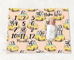 Personalized Baby Blanket Newborn Photo Floral Custom Baby Blanket 321