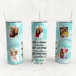 Personalized Photo Tumbler - Photo Collage Tumbler - Custom Travel Mug - Gift For Best Friend 38 | Birthday Gifts