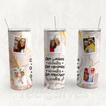 Personalized Photo Tumbler - Photo Collage Tumbler - Custom Travel Mug - Gift For Best Friend 40 | Birthday Gifts