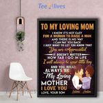 Personalized Mother's Day Gift Custom Name Canvas To My Loving Mom From Son