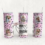 Personalized Photo Tumbler - Photo Collage Tumbler - Custom Travel Mug - Gift For Mom And Grandma 23