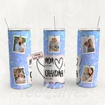 Personalized Photo Tumbler - Photo Collage Tumbler - Custom Travel Mug - Gift For Mom And Grandma 34