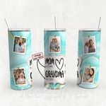 Personalized Photo Tumbler - Photo Collage Tumbler - Custom Travel Mug - Gift For Mom And Grandma 38
