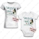 Personalized Combo Women's T-Shirt + Onesie With Lot Of Love 2  - Gift For Mother Day - Premium Women's T-shirt + Onesie