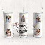 Personalized Photo Tumbler - Photo Collage Tumbler - Custom Travel Mug - Gift For Mom And Grandma 43
