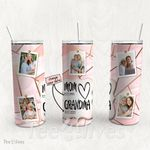 Personalized Photo Tumbler - Photo Collage Tumbler - Custom Travel Mug - Gift For Mom And Grandma 52