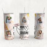 Personalized Photo Tumbler - Photo Collage Tumbler - Custom Travel Mug - Gift For Mom And Grandma 59