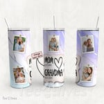 Personalized Photo Tumbler - Photo Collage Tumbler - Custom Travel Mug - Gift For Mom And Grandma 61