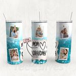 Personalized Photo Tumbler - Photo Collage Tumbler - Custom Travel Mug - Gift For Mom And Grandma 85