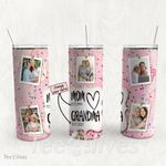Personalized Photo Tumbler - Photo Collage Tumbler - Custom Travel Mug - Gift For Mom And Grandma 90