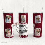 Personalized Photo Tumbler - Photo Collage Tumbler - Custom Travel Mug - Gift For Mom And Grandma 91
