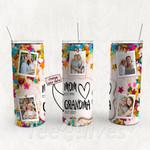 Personalized Photo Tumbler - Photo Collage Tumbler - Custom Travel Mug - Gift For Mom And Grandma 95