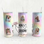 Personalized Photo Tumbler - Photo Collage Tumbler - Custom Travel Mug - Gift For Mom And Grandma 99