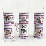 Personalized Photo Tumbler - Photo Collage Tumbler - Custom Travel Mug - Gift For Mom And Grandma 104