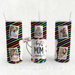 Personalized Photo Tumbler - Photo Collage Tumbler - Custom Travel Mug - Gift For Mom And Grandma 107