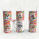 Personalized Photo Tumbler - Photo Collage Tumbler - Custom Travel Mug - Gift For Mom And Grandma 109