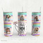 Personalized Photo Tumbler - Photo Collage Tumbler - Custom Travel Mug - Gift For Mom And Grandma 110