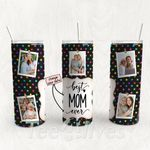 Personalized Photo Tumbler - Photo Collage Tumbler - Custom Travel Mug - Gift For Mom And Grandma 112