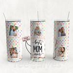 Personalized Photo Tumbler - Photo Collage Tumbler - Custom Travel Mug - Gift For Mom And Grandma 114