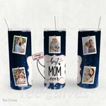 Personalized Photo Tumbler - Photo Collage Tumbler - Custom Travel Mug - Gift For Mom And Grandma 129