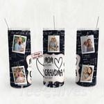 Personalized Photo Tumbler - Photo Collage Tumbler - Custom Travel Mug - Gift For Mom And Grandma 133