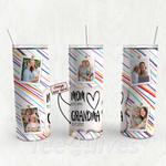 Personalized Photo Tumbler - Photo Collage Tumbler - Custom Travel Mug - Gift For Mom And Grandma 134